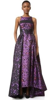 Бальное платье со вставками на лифе J. Mendel