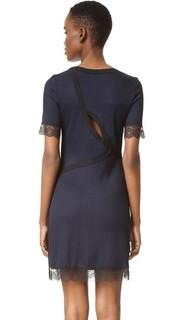 Рубчатое платье с кружевом и фигурным вырезом на спине 3.1 Phillip Lim