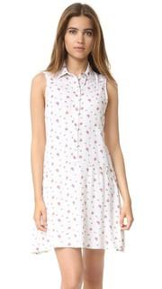 Платье-рубашка с мелким принтом в виде цветков примулы Splendid