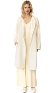 Ворсистое длинное пальто Helmut Lang