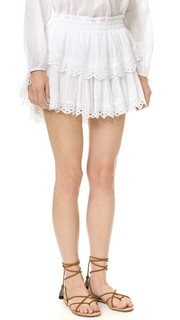Мини-юбка Stacey с оборками Loveshackfancy
