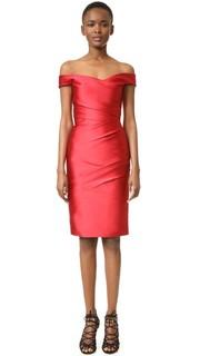 Платье с открытыми плечами Monique Lhuillier