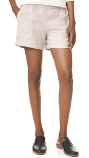 Льняные шорты с манжетами Joyce Three Dots