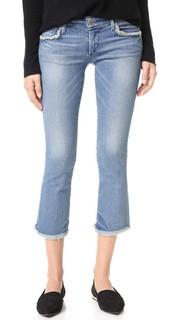 Расклешенные книзу укороченные джинсы Karlie True Religion