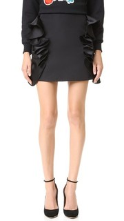 Мини-юбка с оборчатой отделкой Victoria Victoria Beckham