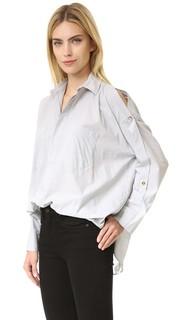 Блуза с открытыми плечами Helmut Lang