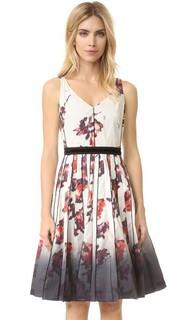 Платье с V-образным вырезом и цветочным рисунком Marc Jacobs
