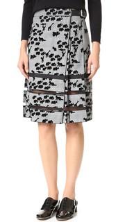 Флокированная плиссированная юбка с изображениями животных Marc Jacobs