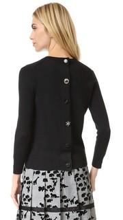 Классический свитер с вышивкой и округлым вырезом Marc Jacobs