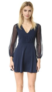 Расклешенное платье Cary с глубоким V-образным вырезом Alice + Olivia