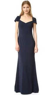 Вечернее платье Odessa с короткими рукавами Badgley Mischka Collection