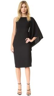Асимметричное платье с оборками сбоку Cushnie Et Ochs