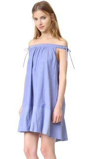 Воздушное платье с открытыми плечами Cynthia Rowley