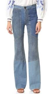 Расклешенные джинсы Alissas в лоскутной технике Free People
