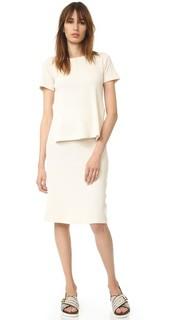Платье с вафельной текстурой MM6