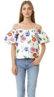 Топ с открытыми плечами и цветочным рисунком Re:Named
