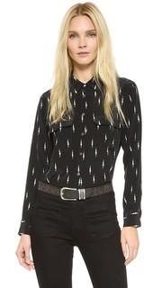 Облегающая фирменная блуза Kate Moss Equipment