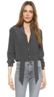 Блуза без воротника Kate Moss Equipment