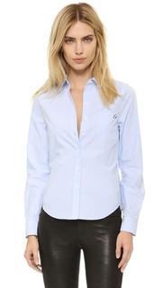 Блуза из жатой ткани оксфорд Kate Moss London Equipment
