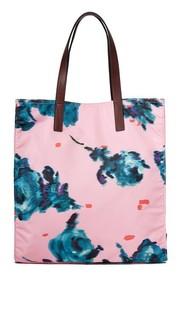 Объемная сумка с короткими ручками B.Y.O.T. из парчи с цветочным рисунком Marc Jacobs