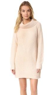 Вязаное платье с воротником-хомутом MLM Label