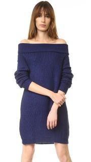Платье-свитер с открытыми плечами MLM Label