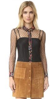 Блузка с принтом в виде цветов RED Valentino