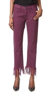 Укороченные джинсы WM3 с бахромой 3x1