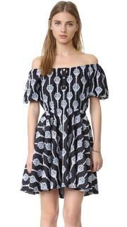 Платье с вышивкой Bardot Caroline Constas