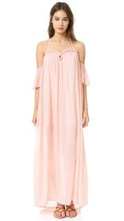 Макси-платье из жатой ткани с округлыми широкими рукавами Re:Named