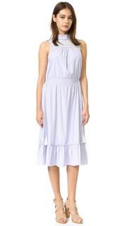 Платье с воротником-стойкой English Factory