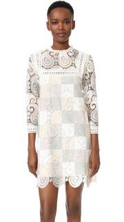Кружевное контрастное платье Sea