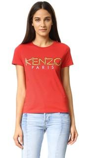Футболка с веревочным логотипом Kenzo