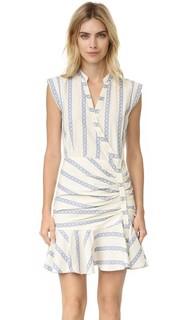 Платье-рубашка Piece & Co со сборками Veronica Beard