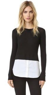 Комбинированный свитер Cati Veronica Beard