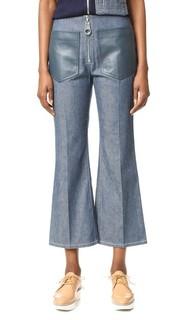 Расклешенные брюки из денима Edun