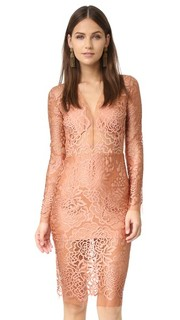 Кружевное платье с длинными рукавами Michelle Mason