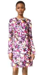 Платье с размытым цветочным рисунком Nina Ricci