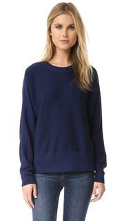 Пуловер с округлым вырезом из двусторонней сетки Vince