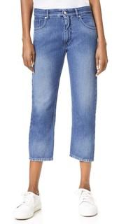 Выцветшие джинсы с рваными карманами MM6
