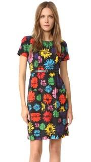 Платье с короткими рукавами Moschino