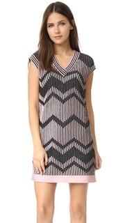 Двухцветное платье из сетки с люрексом M Missoni