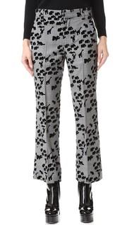 Укороченные брюки Bowie с изображением животных Marc Jacobs