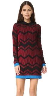 Двухцветное зигзагообразное платье M Missoni