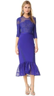 Соблазнительное синее платье Three Floor