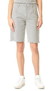 Потрепанные полосатые шорты T by Alexander Wang