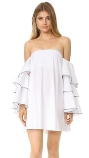 Платье Carmen с вырезом «лодочкой» Caroline Constas
