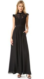 Вечернее платье с кружевными вставками Rachel Zoe