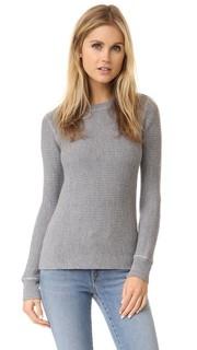 Пуловер из трикотажа с вафельной текстурой T by Alexander Wang