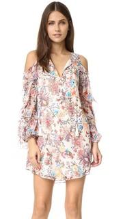 Платье с открытыми плечами Flowers in the Sun Haute Hippie
